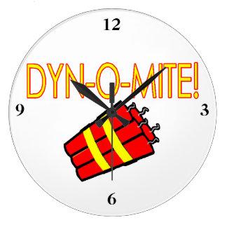 Dynomite Dynamite Wallclock