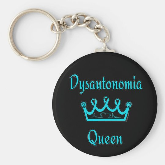 Dysautonomia Queen Basic Round Button Key Ring