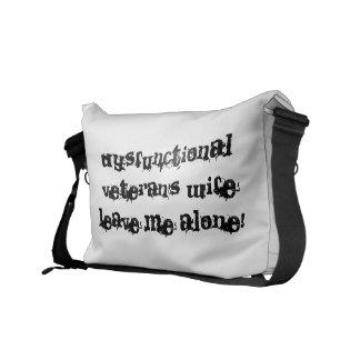 Dysfunctional Veteran's Wife Commuter Bags
