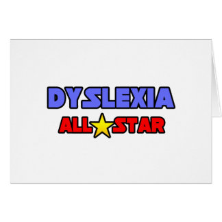 Dyslexia All Star Greeting Cards