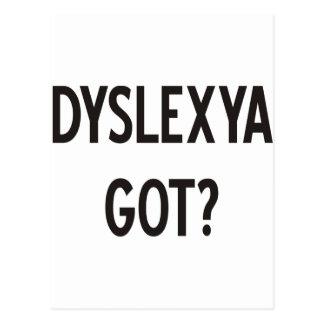 Dyslexia Got? Products & Designs! Postcard