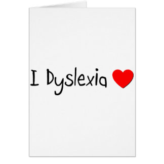 Dyslexia Greeting Card