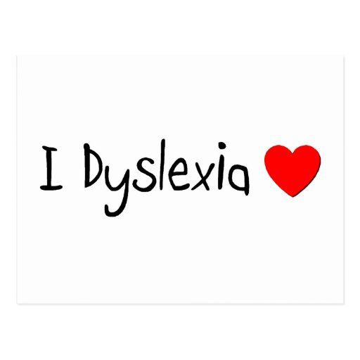 Dyslexia Humor Postcards