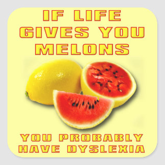 Dyslexia Melons Funny Sticker