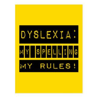 Dyslexia: My Spelling My Rules!  Dyslexic Postcard