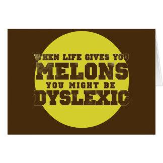Dyslexia Note Card