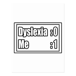 Dyslexia Scoreboard Postcard