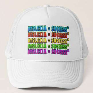 Dyslexia = Success2 funky logo Trucker Hat