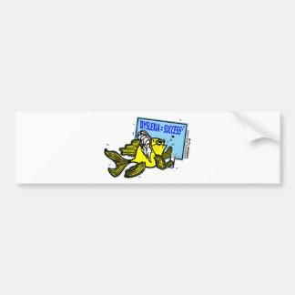 Dyslexia Teacher Fish ~ Dyslexic success Bumper Sticker