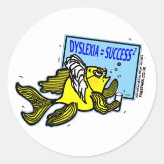 Dyslexia Teacher Fish ~ Dyslexic success Classic Round Sticker