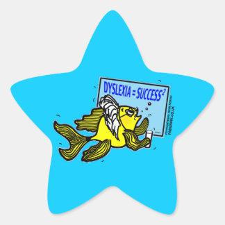 Dyslexia Teacher Fish ~ Dyslexic success Star Sticker