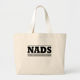Dyslexic humor large tote bag