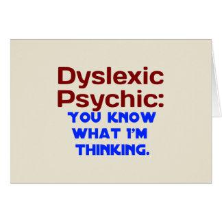 Dyslexic Psychic Card