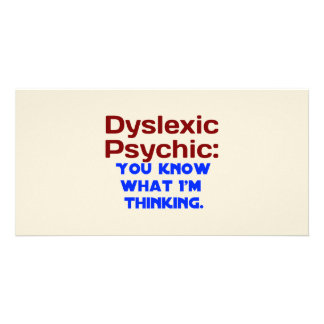 Dyslexic Psychic Personalized Photo Card