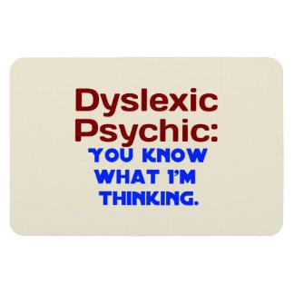 Dyslexic Psychic Vinyl Magnet
