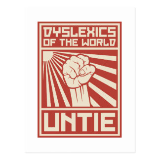 Dyslexics of the World UNTIE Postcard