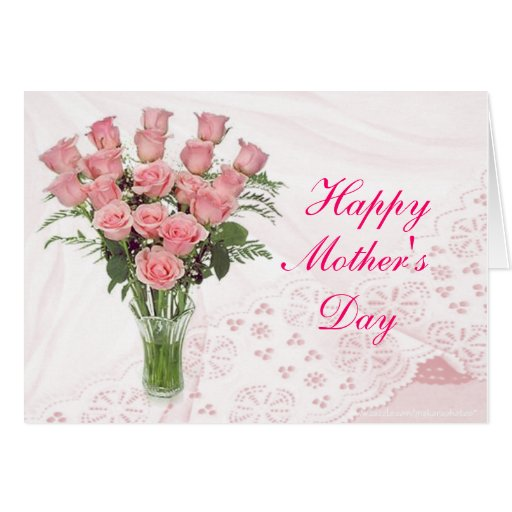 Dz Pk Rose Bqt-customise any occasion Greeting Card
