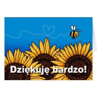 Dziękuję bardzo Polish Thank you card