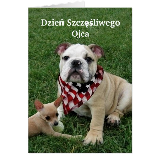 Dzień Szczęśliwego Ojca Bulldog Greeting Card