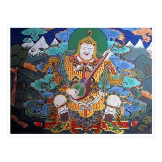 dzong budhist art postcard