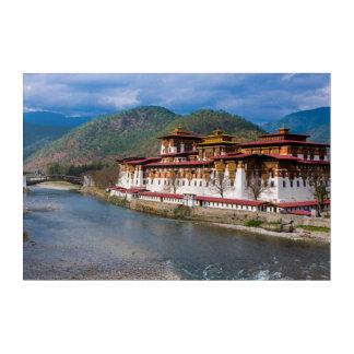 Dzong Building By River Acrylic Print