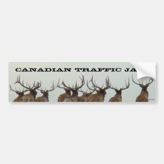 E00017 Bull Elk Running Bumper Sticker