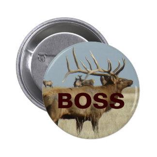E0004 Bull Elk Button
