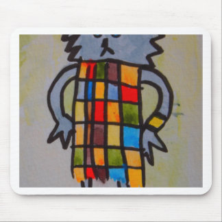 """E17 Art Trail"" cat in coloured dress. Mouse Pad"