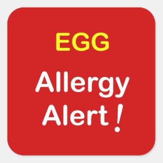 e1 - Allergy Alert - EGGS. Square Sticker