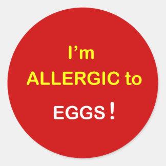 e2 - I m Allergic - EGGS Sticker