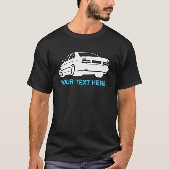 E34 M5 white + your text T-Shirt