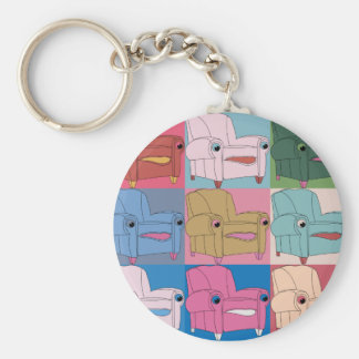E.A.S.E chair goes - Keyring Basic Round Button Key Ring