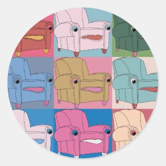 E.A.S.E chair goes Warhol sticker
