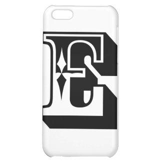 """E"" Alphabet Letter Tee iPhone 5C Case"