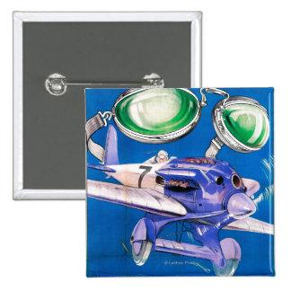 E.B. Meyrowitz Flying Goggles Advertisement 15 Cm Square Badge