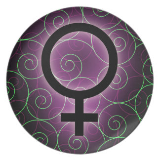 E-card for international women's day plate