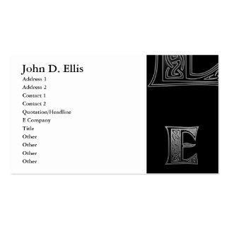 E Celtic Monograms Pack Of Standard Business Cards