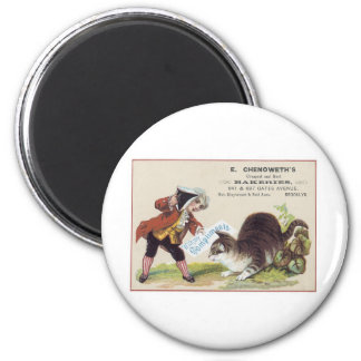 E. Chenoweth's Bakeries Cat Trading Card 6 Cm Round Magnet