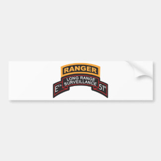 E Co 51st Infantry LRS Scroll, Ranger Tab Bumper Sticker