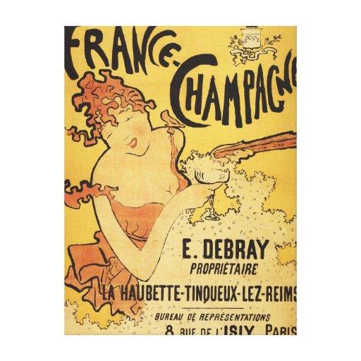 E. Debray Champagne Advertisement Poster Canvas Prints
