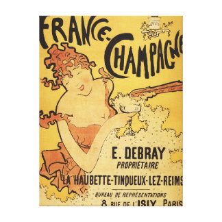 E. Debray Champagne Advertisement Poster Stretched Canvas Print