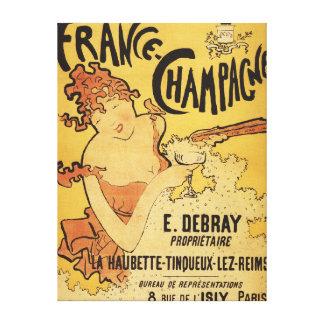 E. Debray Champagne Advertisement Poster Canvas Print