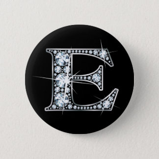 """""""E"""" Diamond Bling Button"""