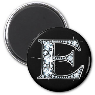 """E"" Diamond Bling Magnet"