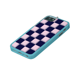 E Different Baby Pink and Blue iPhone 500 Custom iPhone 5/5S Cases