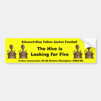 E-E 4-time District Champs sticker Bumper Sticker
