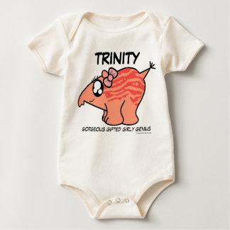 "e.e.h.r...? Trinity ""Genius"" Baby Baby Bodysuit"