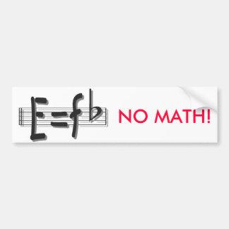 e eq F flat bumper sticker no math