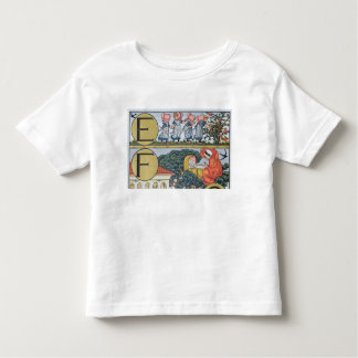 E-F,from an Alphabet based on Nursery Rhymes Toddler T-Shirt
