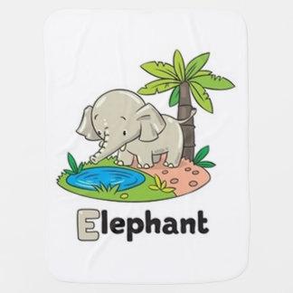 E For Elephant Buggy Blanket